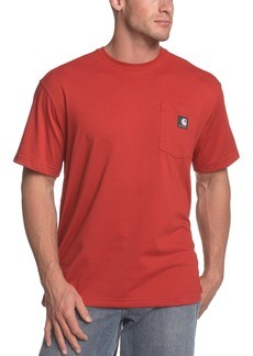 Carhartt Men's Short Sleeve Work Dry Pocket T-ShirtCrimson  (Closeout)Large Tall