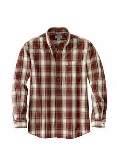 Carhartt Men's Size Big & Tall Essential Plaid Button Down Long Sleeve Shirt  Large/Tall