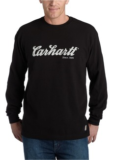 Carhartt Men's Textured Knit Long Sleeve Crewneck Script Logo