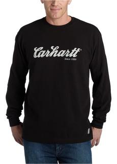 Carhartt Men's Textured Knit Long Sleeve Crewneck Script LogoBlack  (Closeout)XX-Large Tall