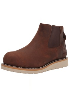 "Carhartt Men's Wedge 5"" Chelsea Pull-On Steel Toe FW5233-M Boot DARK BISON OIL TANNED"