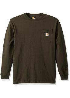 Carhartt Men's Workwear Jersey Pocket Long-Sleeve Shirt K126 (Regular and Big & Tall Sizes) peat 2X-Large