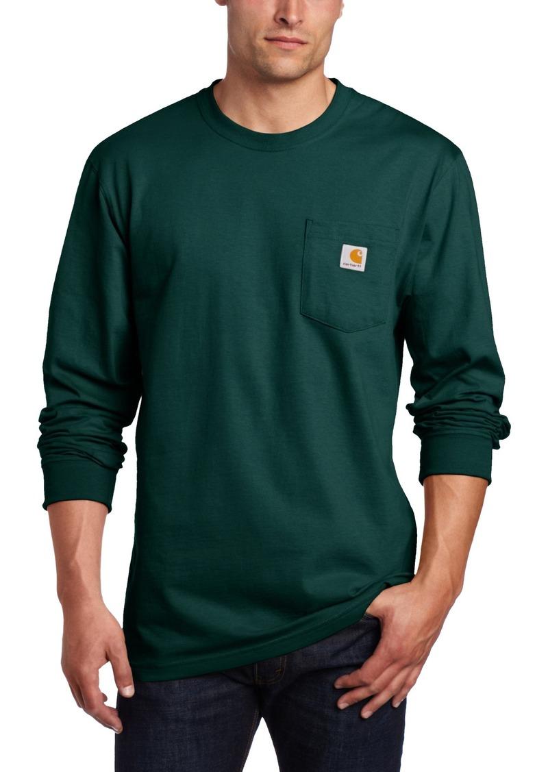 Carhartt carhartt men 39 s workwear long sleeve pocket t for Carhartt men s chamois long sleeve shirt