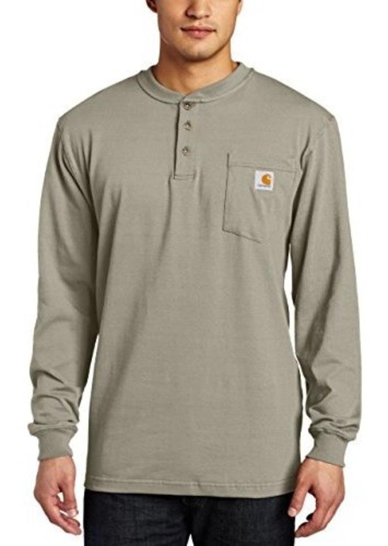 Carhartt carhartt men 39 s workwear pocket long sleeve henley for Carhartt men s chamois long sleeve shirt