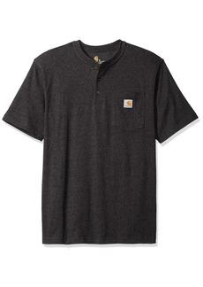 Carhartt Men's Workwear Pocket Short Sleeve Henley Midweight Jersey Original Fit