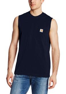 Carhartt Men's Workwear Pocket Sleeveless Midweight T-Shirt Relaxed Fit
