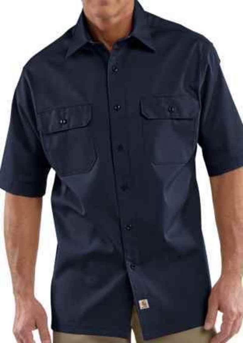 Carhartt Twill Work Shirt - Short Sleeve (For Big Men)