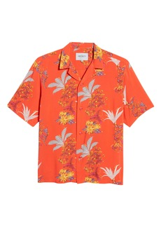 Carhartt Work In Progress Floral Print Short Sleeve Camp Shirt