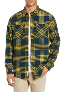 Carhartt Work In Progress Lambie Plaid Flannel Button-Up Shirt
