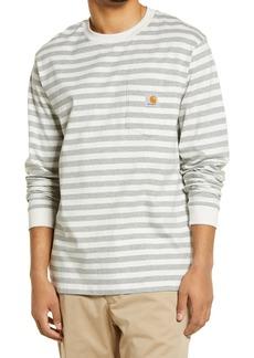 Carhartt Work in Progress Men's Scotty Stripe Long Sleeve Pocket T-Shirt