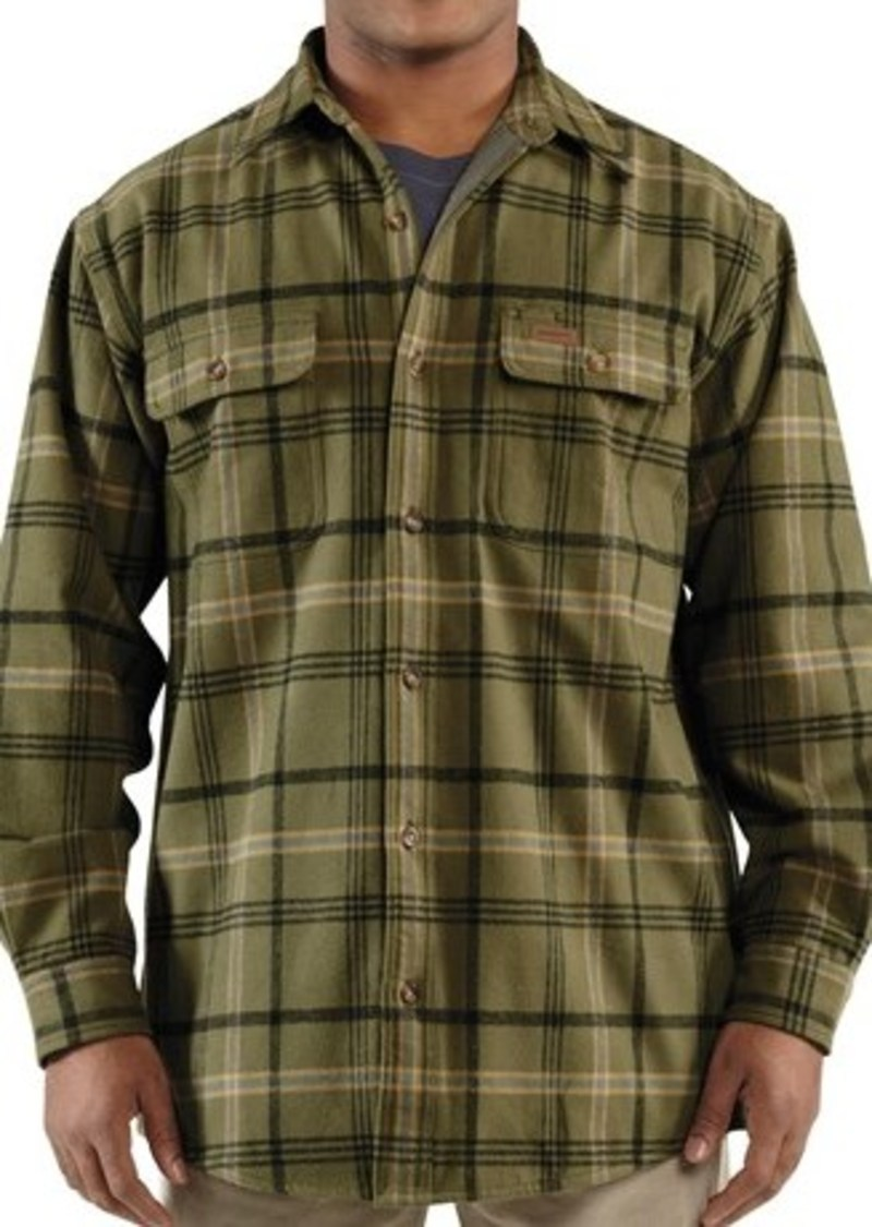 Carhartt carhartt youngstown flannel shirt jacket for Mens insulated flannel shirts