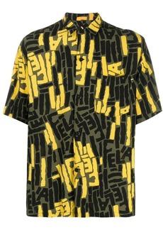 Carhartt colour block print shirt