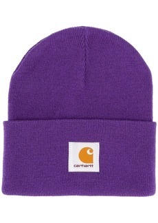 Carhartt logo patch knitted hat