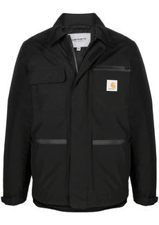 Carhartt logo-patch zip-up coat