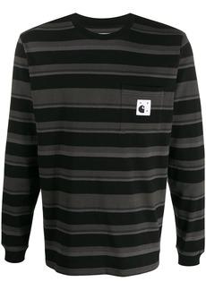Carhartt x Pop Trading Co striped T-shirt