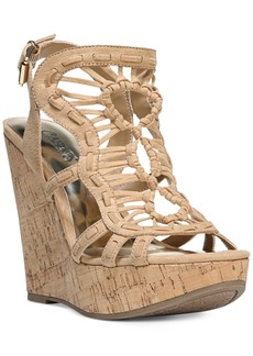 Carlos By Carlos Santana Banjo Platform Wedge Sandals Women's Shoes