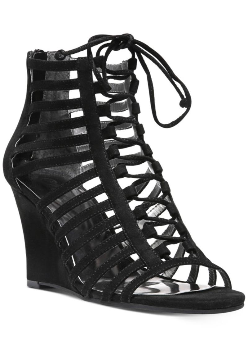 65ba4681dc40 Carlos by Carlos Santana Danita Cut-Out Lace-Up Wedge Sandals Women s Shoes