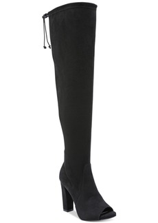 Carlos by Carlos Santana Fitz Peep-Toe Block-Heel Over-The-Knee Boots Women's Shoes