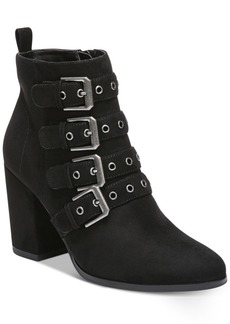 Carlos by Carlos Santana Gamma Buckle Block-Heel Booties Women's Shoes