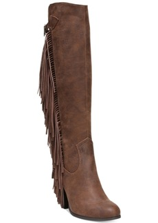 Carlos by Carlos Santana Roslyn Fringe Block-Heel Tall Boots Women's Shoes