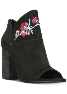 Carlos by Carlos Santana Talana Embroidered Peep-Toe Booties Women's Shoes