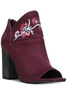 Carlos by Carlos Santana Talana Embroidered Peep-Toe Boots Women's Shoes