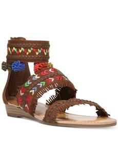 Carlos By Carlos Santana Tangier Three-Piece Pom-Pom Sandals Women's Shoes