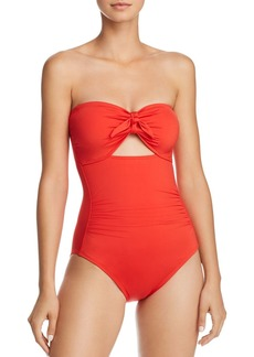 Carmen Marc Valvo Bandeau One Piece Swimsuit
