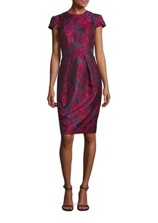 Carmen Marc Valvo Brocade Sheath Dress
