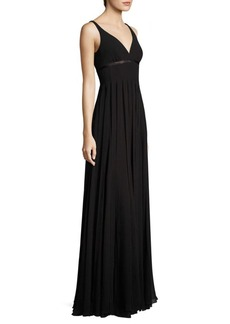 Carmen Marc Valvo Car Wash Silk Chiffon Gown