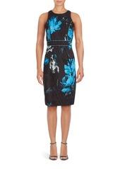 Carmen Marc Valvo Cotton-Blend Floral Dress