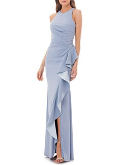 Carmen Marc Valvo Couture Infusion Ruffle Gown
