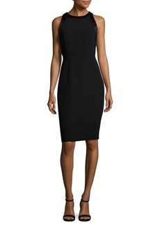 Carmen Marc Valvo Crepe Cocktail Dress