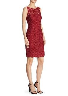 Carmen Marc Valvo Dot Cocktail Dress