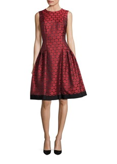 Carmen Marc Valvo Drop Waist Fit & Flare Dress