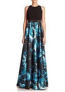 Carmen Marc Valvo Embellished A-Line Gown