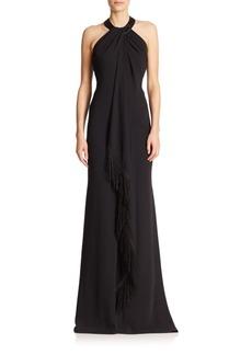 Carmen Marc Valvo Embellished Gown