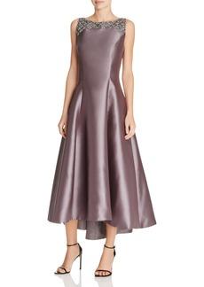 Carmen Marc Valvo Embellished Midi Dress