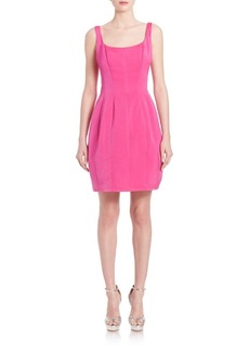 Carmen Marc Valvo Faille Bubble Cocktail Dress