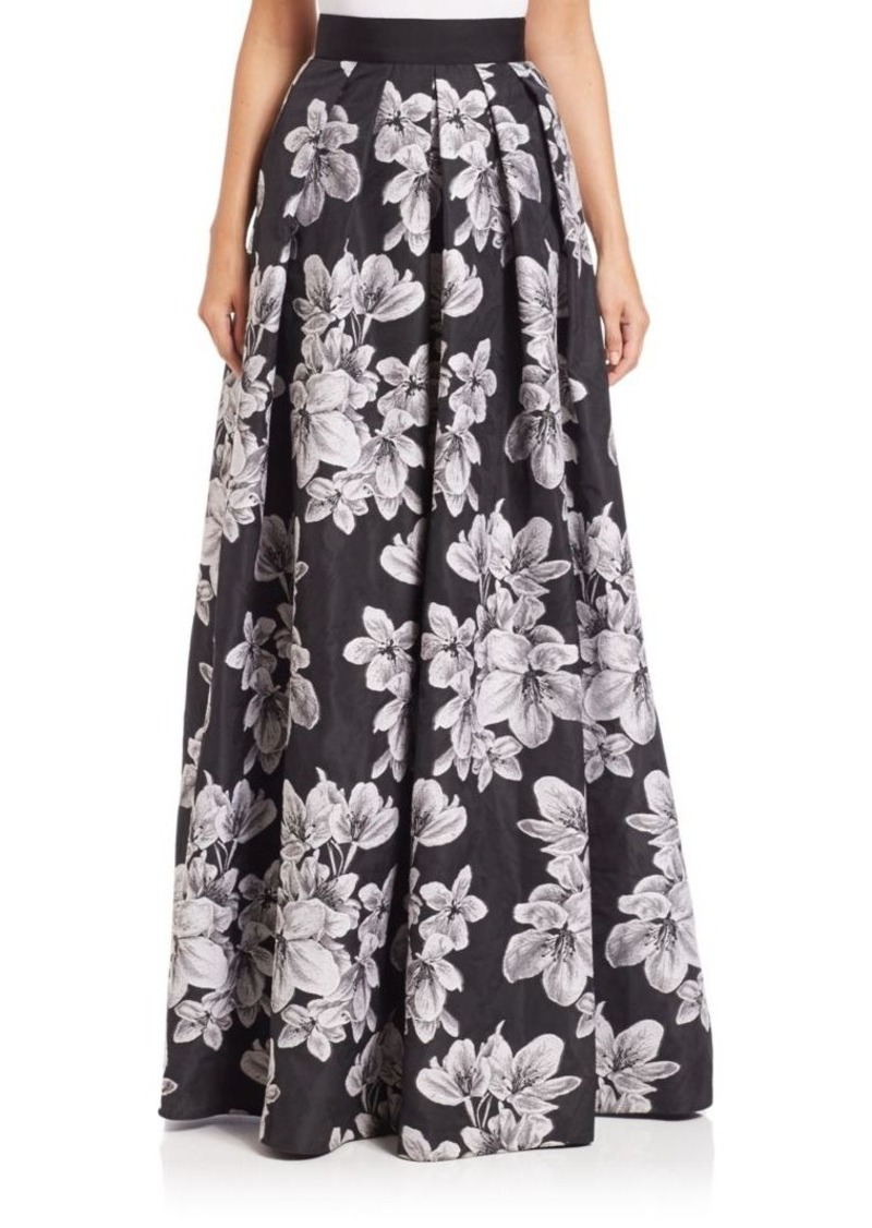 Carmen Marc Valvo Floral Ball Skirt