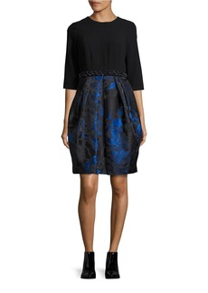 CARMEN MARC VALVO Floral Contrast Dress