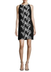 CARMEN MARC VALVO Floral Embroidered Sleeveless Dress