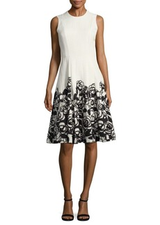 Carmen Marc Valvo Floral Party Dress