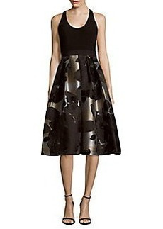 Carmen Marc Valvo Floral Print Dress