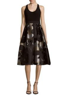 Carmen Marc Valvo Floral Print Dress