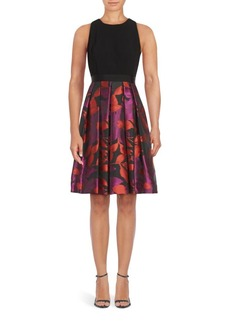 Carmen Marc Valvo Floral Printed Dress