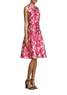 Carmen Marc Valvo Floral Printed Fit & Flare Dress
