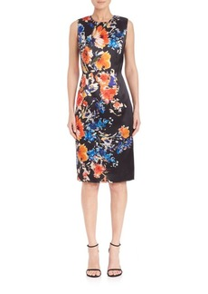 Carmen Marc Valvo Floral Sheath Dress