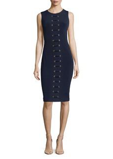 Carmen Marc Valvo Grommet Midi Dress