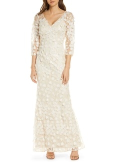 Carmen Marc Valvo Infusion 3D Flower Evening Dress